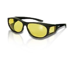 e62df0db1df1 Global Vision Escort Over-Prescription Glasses Sunglasses Yellow Tinted Has  Matching Side Lenses Meets ANSI