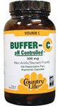 Country Life Buffer-C 500 Mg (Veg Caps), 120-Count