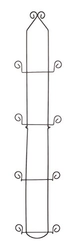Economy 4 Tier Black Vertical Plate Wall Rack (Plate Rack For Wall compare prices)