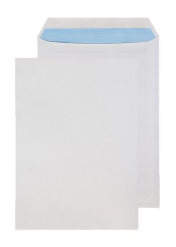 Purely Everyday - Buste formato C4, chiusura adesiva, 324 x 229 mm, confezione da 250, colore: Bianco