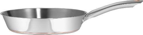 T-fal C79807 Ultimate Oven Safe Stainless Steel Copper Bottom Mult-layer Base Fry Pan Dishwasher Safe Cookware, 12-Inch, Silver