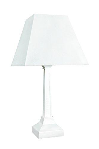 Philips 35039 Base E27 20-Watt Wood Table Lamp (White)