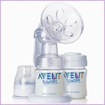 NewBorn, Baby, Avent Isis Breast Pump with 2 Bottles New Born, Child, Kid