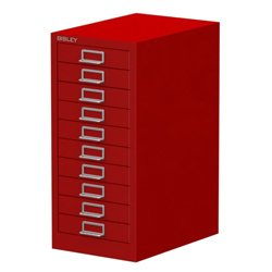 bisley-10-drawer-filing-cabinet-red-all-steel-construction-with-chrome-plated-d-ring-handles-and-ind
