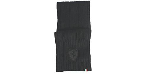 Puma Ferrari-Sciarpa da uomo in maglia Lifestyle II, sciarpe, colore: nero