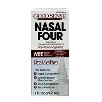 Nasal Four Fast Acting Decongestant Nasal Spray by GoodSense - 1 Oz