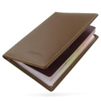 Leather Passport Holder/Travel Wallet (Brown)