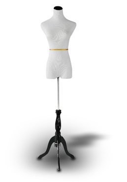 White Female Dress Form Mannequin Size 6-8 (Dress Form Mannequin Female compare prices)