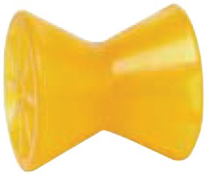 "Tie Down 86142 Amber 4"" PVC Roller Assembly with End Bells"