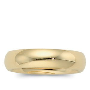 Genuine IceCarats Designer Jewelry Gift 10K Yellow Gold Wedding Band Ring Ring. 04.00 Mm Comfort Fit Band In 10K Yellowgold Size 13