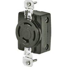 Bryant Locking Flush Receptacle - Black 7410