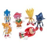 Sonic the Hedgehog Action Figure (6pcs-Set) [Toy] - 1