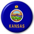 Kansas US State Flag 25mm Pin Button Badge