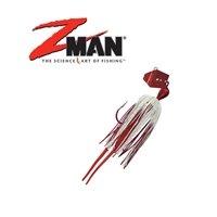 Z-MAN Z-Man Chatterbait, Red White, 1/4-Ounce