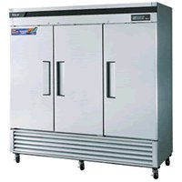 Turbo Air TSR-72SD Deluxe 72 cu ft 3 Solid Door Reach-In Commercial Refrigerator