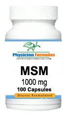 4 Bottles Msm 1000 Mg, 100 Capsules, Maintains Healthy Connective Tissue - Endorsed By Dr. Ray Sahelian, M.D
