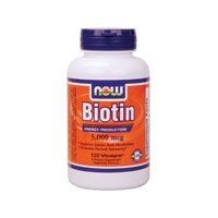 NOW Foods Biotin 5000mcg, 120 Vcaps