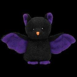 Ty Halloweenie Beanie Scarem - Bat