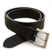 Bonded Leather Square Buckle Belt