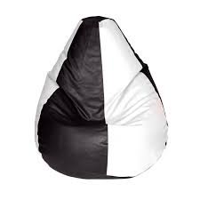 SM BLACK & WHITE BEAN BAG XL SIZE SUPER CLASSIC QUALITY (Without filling only cover)