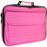 "LAPTOP CASE UP TO 17"" (16.4"" widescreen) IN PINK POLYESTER"
