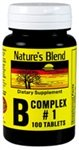 Natures Blend B Complex #1 Tablets - 100 ct