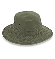 Pure Cotton Washed Broad Brim Hat