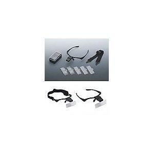 5 Lens Binocular Magnifier Professional Jeweler'S Lighted Magnifier Visor - 5 Lenses 1.0X To 3.5X - Weighs Just 2 Oz.