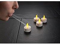 Lunartec LED-Teelichte mit Luftzugsensor, 4er-Set