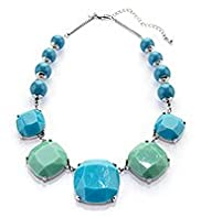 Assorted Bead Cube Collar Necklace