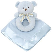 Carter'S Snuggle Me Rattle And Blankie, Blue Bear
