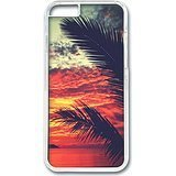 img - for iPhone 6 Case (4.7 inch) Sunset Beach Palm Tree Theme Phone Case Custom Transparent Polycarbonate Hard Case For Apple iPhone 6 (4.7 inch) book / textbook / text book