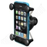 Ram Mount Cradle Holder for Universal X-Grip Cellphone/iPhone with 1-Inch Ball - Non-Retail Packaging - Black (Motorcycle Ipod Accessories compare prices)
