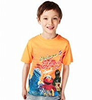 Pure Cotton Crew Neck Elmo Sublimation T-Shirt