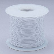 White Elastic Cord 100yd – Medium