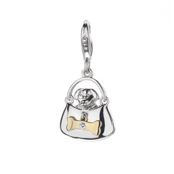 Hot Diamonds Doggy Bag Silver Charm - DT137