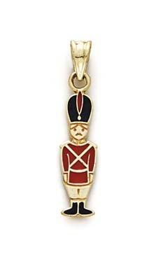 14k Enamel Toy Soldier Pendant - JewelryWeb