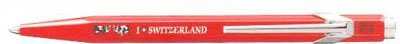 Caran D'Ache Essentially Swiss Collection Ballpoint Pen I Love Switzerland Ethno Red