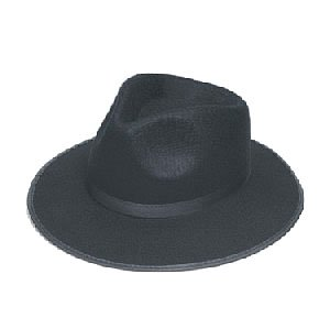HM Smallwares Deluxe Fedora Hat, Black