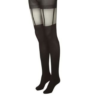 Kangol Suspender Tights Single Pack Ladies Black Ladies