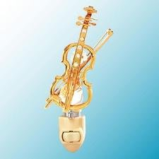 Violin Night Light..... Clear Swarovski Austrian Crystals - 1