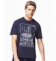 Blue Harbour Pure Cotton Sail Print T-Shirt