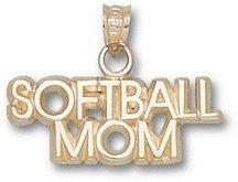 Softball Mom Pendant - 10KT Gold Jewelry