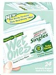 Wet Ones Singles Sensitive Skin Individually Wrapped Hand Moist Wipes -24Ct front-730412