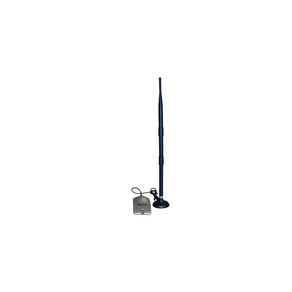 Alfa AWUS036H 1000mW 1W 802.11b/g USB Wireless WiFi Network Adapter With Original Alfa 9dBi Rubber Antenna with magnetic base *Strongest on the Market* Computers & Accessories