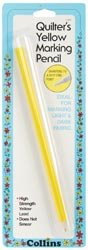 Dritz Quilter's Marking Pencil Yellow C183; 6 Items/Order