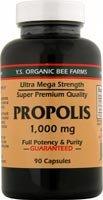 YS Royal Jelly/Honey Bee - Propolis Ultra Mega Strength, 1000 mg, 90 capsules