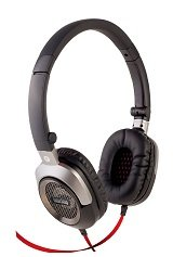 Interstep HDP-400 STEEL on-ear open type headphones with PC adapter