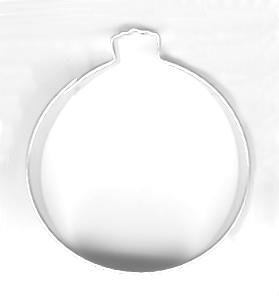 Round Christmas Ornament Metal Cookie Cutter for Holiday Baking / Christmas Party Favors / Scrapbooking Stencil