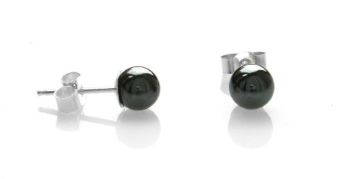 Hematite 6mm Silver Stud Earrings